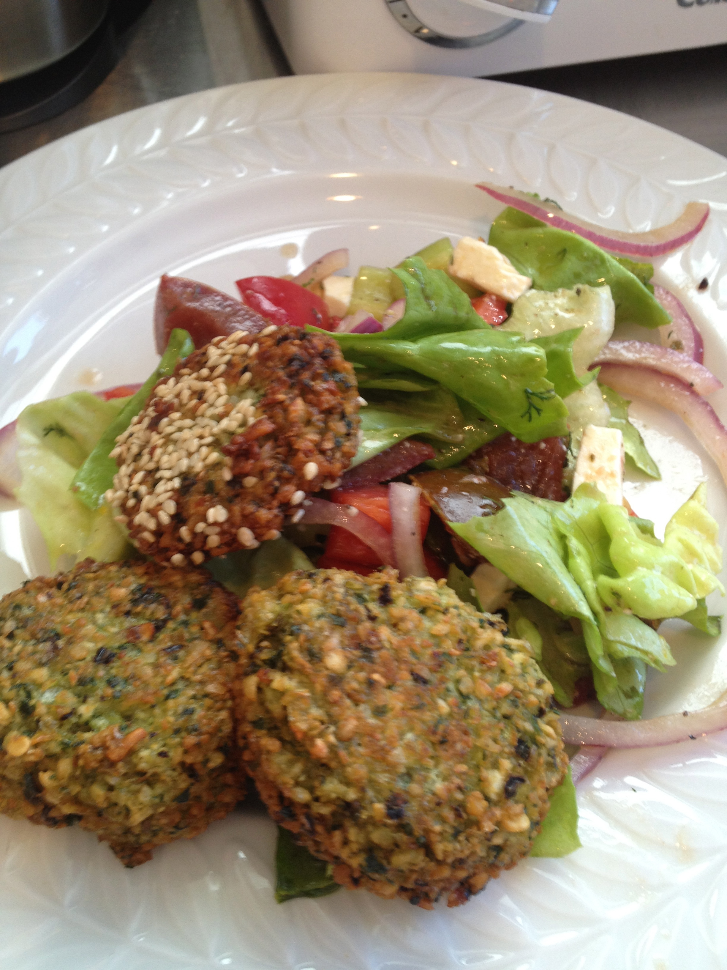 Black eyed Pea Falafel and Greek Salad – What's Annie Cooking