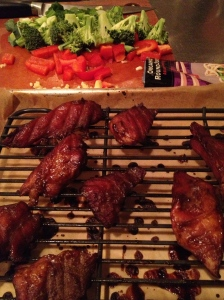 Chinese pork on rack