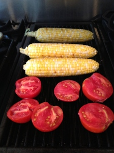 Grilled corn and tomatojpg