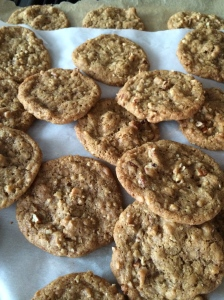 Toffee pecan cookies