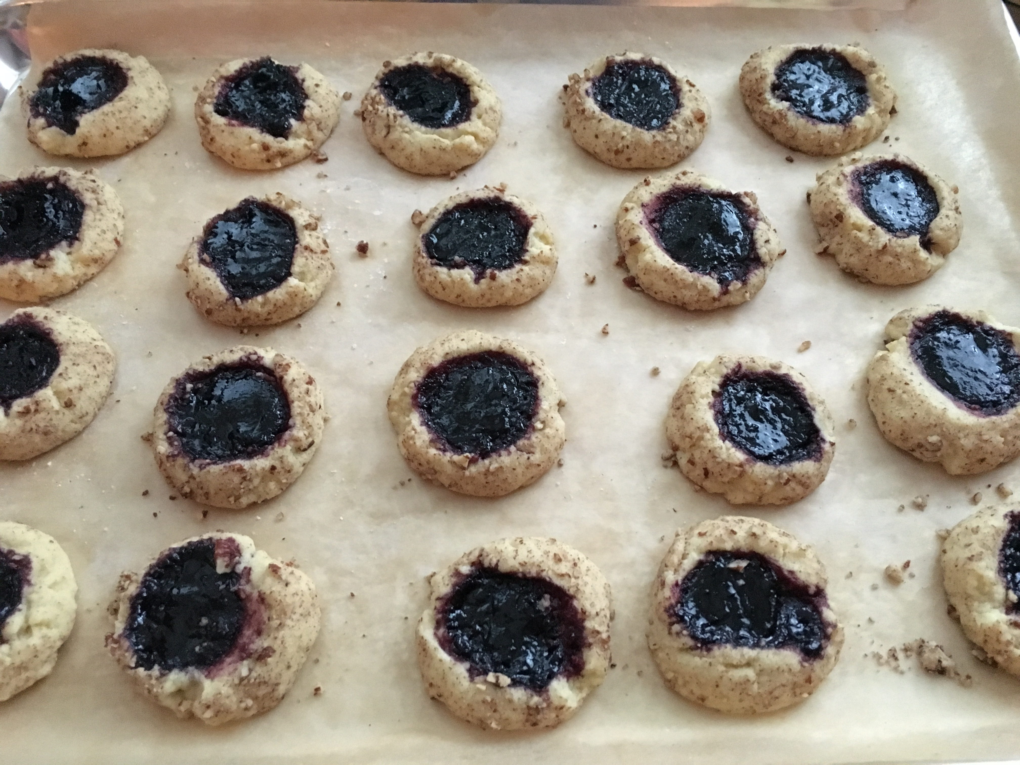 Pecan Thumbprint Cookie with Jam – What's Annie Cooking