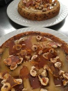 Hazelnut toffee cake