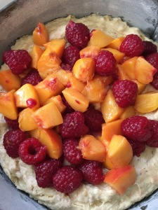 Peach and Raspberry Cake